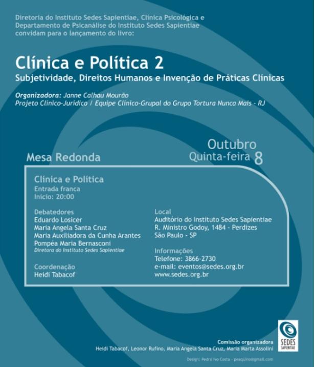 83e12023dfd Departamento de Psicanálise - Sedes Sapientiae - EVENTOS